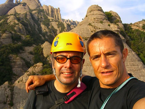 Escalada amb en Jan Vives a Montserrat